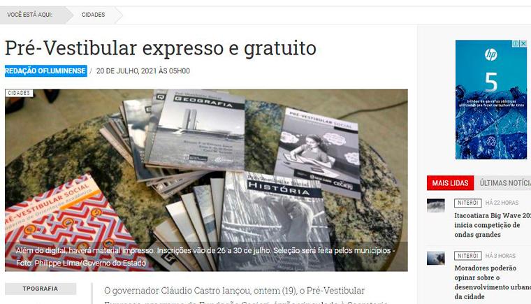 Pré-Vestibular expresso e gratuito
